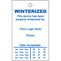 Winterized Tags Style W1, ONE Color