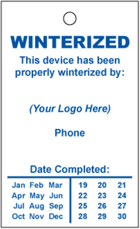 Backflow And Fire Inspection Tags