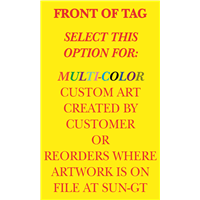 Winterized Tags - multi-clr 1 side, CUSTOM-REORDER
