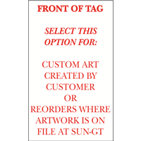 Winterized Tags- 1 color, 1s, CUSTOM or REORDER