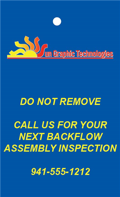 Backflow Tags - BACKSIDE - multicolor (OPTIONAL)